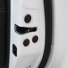 Car Door Lock Check Screw Protect Cover Trim Black White Stickers Waterproof For Toyota RAV4 RAV-4 2014 2015 2016 2017 2018 цена