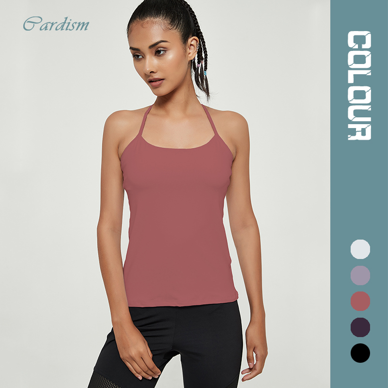 Cardism Women's Sleeveless Vest Sport And Fitness Sexy Fashion Top Blouses 2020 Sports Bra T-shirts For Women Gym Without Sleeve 1