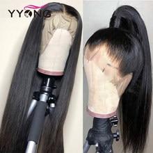 Yyong włosy Glueless pełna koronka ludzkich włosów peruki z dzieckiem włosy brazylijski prosto Remy ludzki włos pełne koronkowe peruki niski stosunek