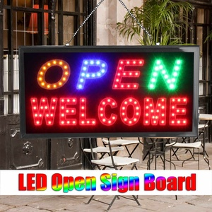 LED Store Open Sign Advertising Light Board Shopping Mall Bright Animated Motion Neon Business Store Billboard US AU Plug