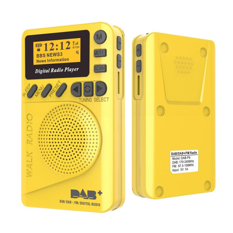 Pocket Mini DAB Digital Radio FM Digital Demodulator Portable Mp3 Player New