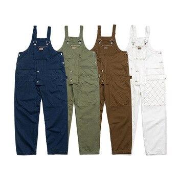 цена UNCLEDONJM Patchwork Loose fit Rompers Mens Jumpsuit Cargo Overalls New One piece Suits Romper Loose fit Overalls pm6628 онлайн в 2017 году