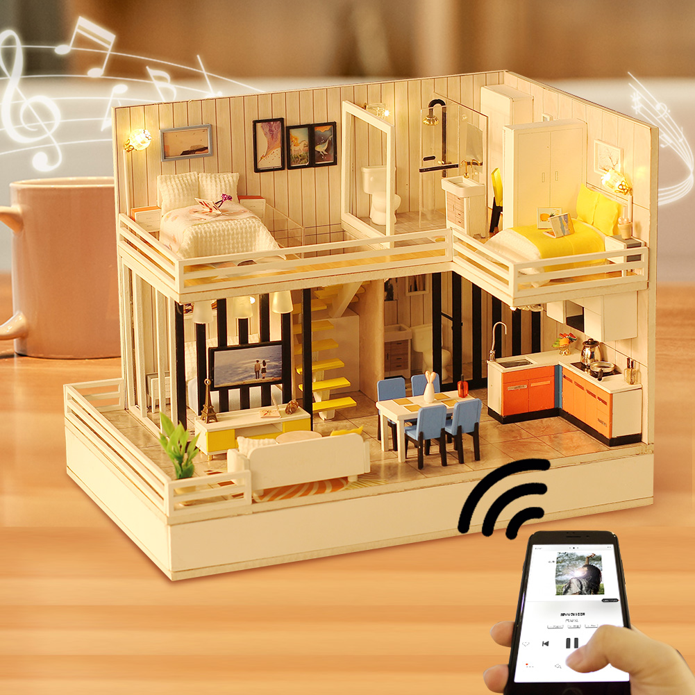Bluetooth Audio Wooden Doll House