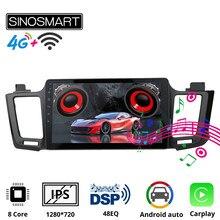 Sinosmart – autoradio avec Navigation GPS et écran IPS, pour Toyota RAV4 2013 – 2019, compatible avec caméra de recul OEM JBL 8 Core,DSP 48EQ