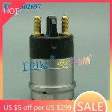 ERIKC Common Rail Parts F00RJ02697 Fuel Injector F00R J02 697 Assy Solenoid Valve Set F 00R J02 697 The Electromagnetic valve