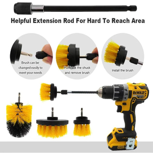 Image 4 - 5Pcs 3Pcs Power Scrubber Brush Electric Drill Brush Power Scrubber Bathroom Surface Tub Shower Tile Cleaning Tools