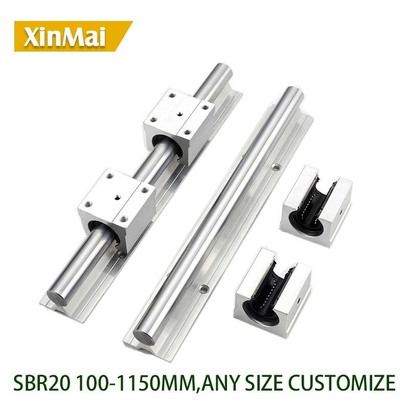 2 set SBR12UU 12mm Slide BlockBearing+SBR12 1200mm Fully Supported Linear Rail