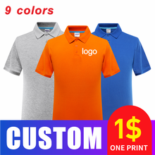 Spring and summer men's cotton lapel business polo shirt high-end custom printing and embroidery