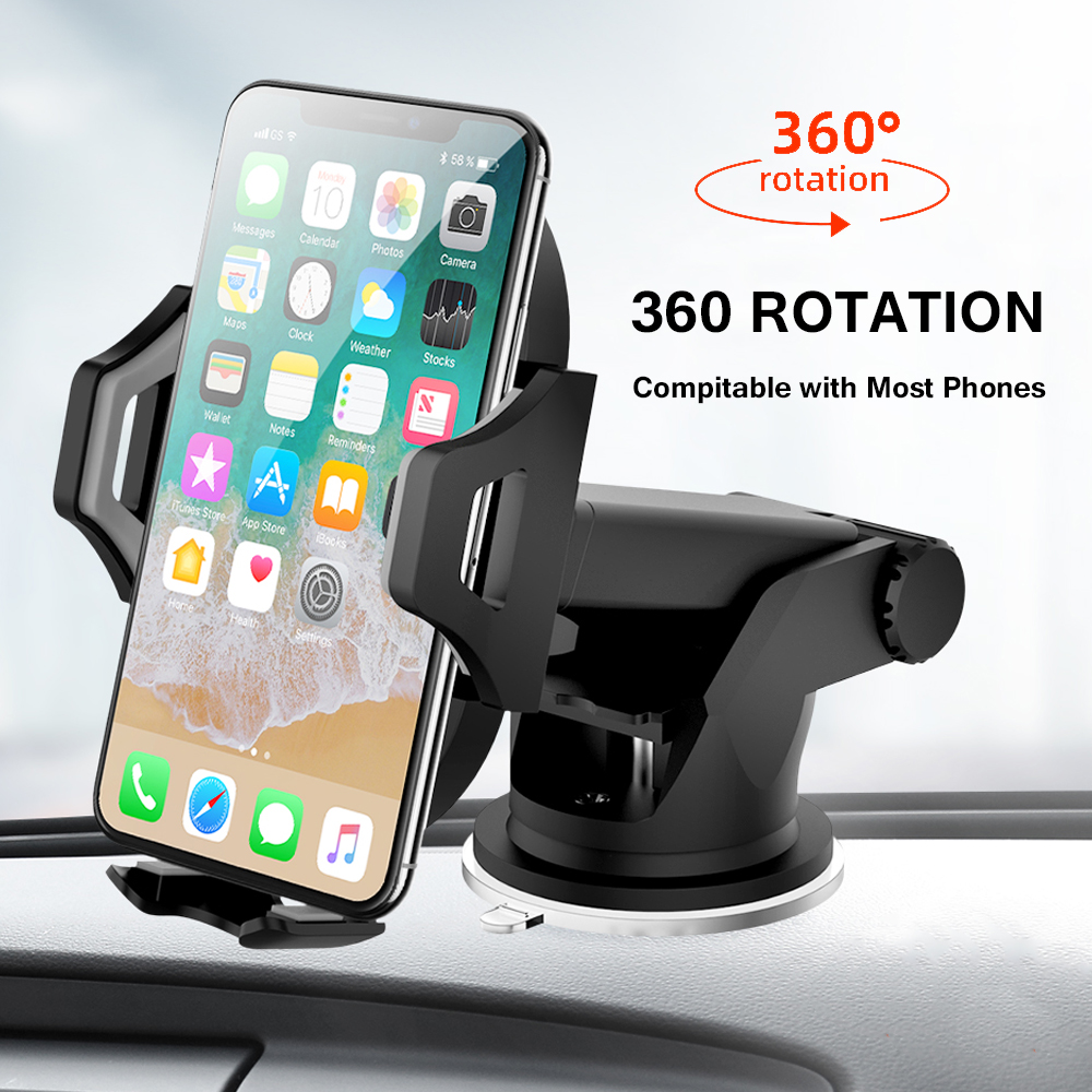 Windshield Gravity Sucker Car Phone Holder For iPhone Samsung Huawei Universal Air Vent Mount Mobile Support Smartphone Stand