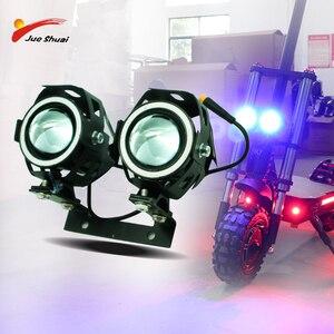 12-60V Eagle eye LED grande Luz Frontal para Kick Scooter Elétrico 2000W 2400W 2600W 3200W scooter e bicicleta U7 conduziu a iluminação