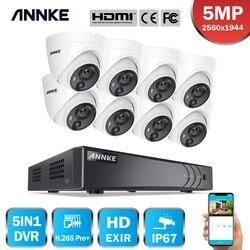 ANNKE 8CH 5MP Lite HD Video Sicherheit Kamera System 5IN1 H.265 + DVR Mit 8X 5MP Dome Home CCTV Überwachung kameras PIR Erkennung