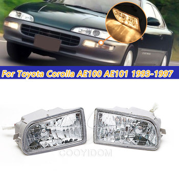 COOYIODM 1pair Car Stying Front Fog Light LED Fog Lamp LED For Toyota Corolla AE100 AE101 1993-1997 A1649060451 Assembly image