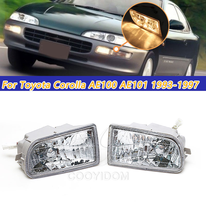 COOYIODM 1pair Car Stying Front Fog Light LED Fog Lamp LED For <font><b>Toyota</b></font> <font><b>Corolla</b></font> AE100 <font><b>AE101</b></font> 1993-1997 A1649060451 Assembly image