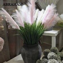 Bouquet de grandes plantes artificielles en plastique, 90cm, 5 têtes, fausse branche d'oignon, fleur de mariage pour la maison, décor d'automne