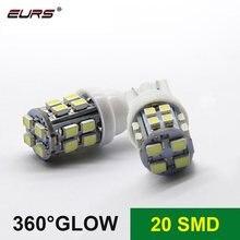 EURS 10PCS Led T10 1206 20smd Carro T10 12v Lampada Luz Super light 194 168 w5w Led Estacionamento bulbo Auto Wedge Clearance Lamp Branco