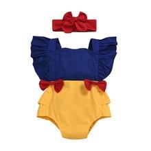 Summer Infant Baby Girls Princess Romper Ruffles Short Sleev