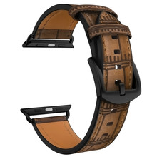 VIOTOO New watch bracelet belt Brown watchbands genuine leather strap band 42mm 44mm accessories wristband