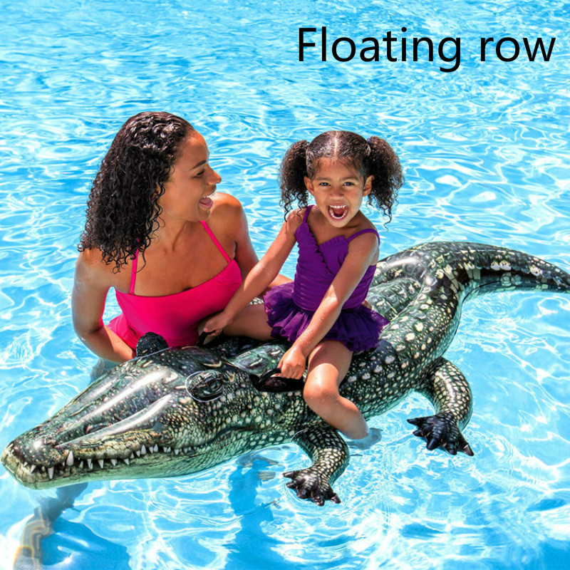 A New Type Of Summer Aquatic Inflatable Mount Animal Floating Row Simulation Crocodile Mount Adult Aquatic Toys