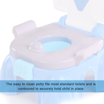 Child Multifunctional Potty Baby Travel Potty Training Seat Portable Toilet Ring Kid Urinal Comfortable Assistant Toile 2
