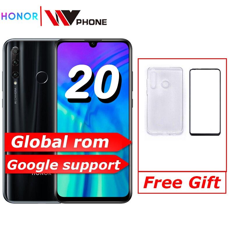 Global Rom Honor 20i Honor Lite Mobile Phone 6.21 Inch  Android 9.0 FM Face Fingerprint Unlock   Smartphone