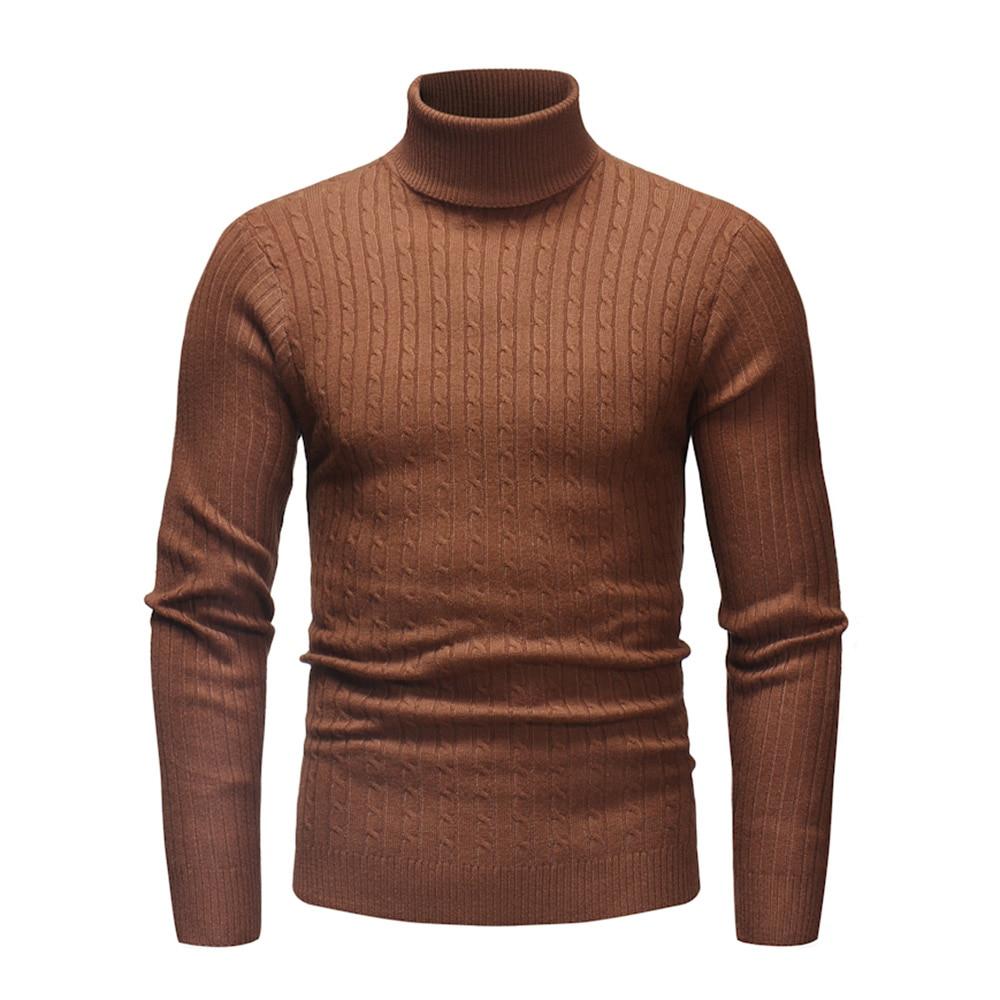 Men's Sweater Turtleneck Pullover Fashion Basic Tops Men Sweaters Winter Black White Knitwear Warmness Jumper 2020 Spring 3XL
