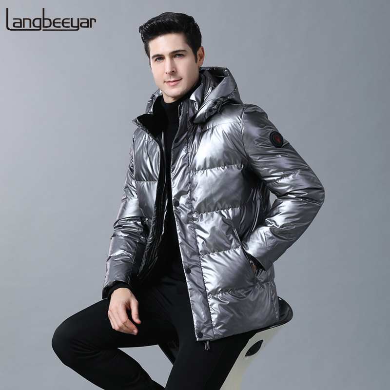 2019 Top Grade 90% Duck Down Winter Fashions Brand Down Jacket Men Streetwear Feather Coats Hooded Light Jacket Warm Men Clothes
