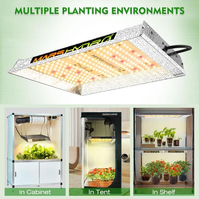 Mars Hydro TS 600W LED Grow Lights for Indoor Plants Veg Flower Replace HPS HID 4