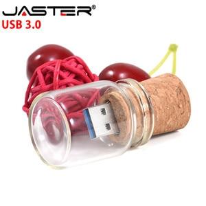 Image 4 - JASTER USB 3.0 나무 슬라이더 상자 + 드리프트 병 모델 USB 플래시 드라이브 4 기가 바이트 8 기가 바이트 16 기가 바이트 32 기가 바이트 64 기가 바이트 128 기가 바이트 Pendrive 스틱 사용자 정의 로고
