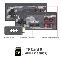 2020 nuova Console per videogiochi Y2HD PLUS 4K integrata nel 1400 giochi classici Console retrò Controller Wireless uscita HDMI lettori doppi