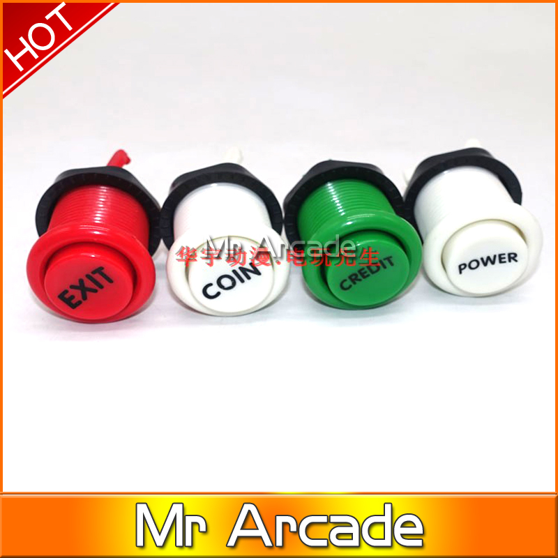 2019 New Arcade happ stype Push Button Durable Multicade MAME Jamma Game Long Switch Mult-color 1 pcs(China)
