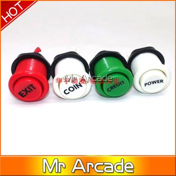 2019 nowy Arcade happ stype Push Button trwała Multicade MAME Jamma gra długi przełącznik mult-kolor 1 sztuk tanie i dobre opinie Pchacz 3 lat Retail push button switch