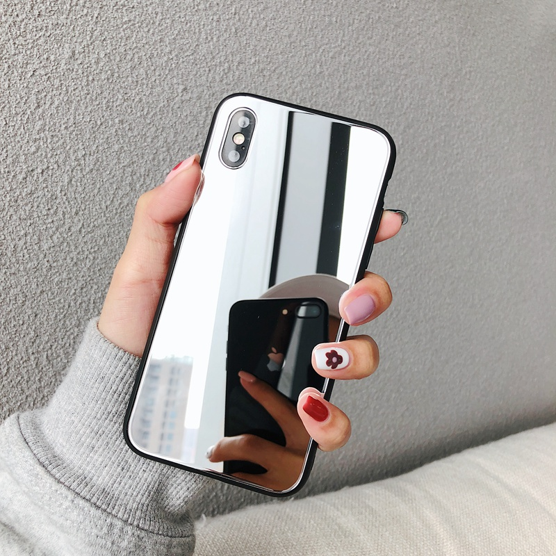 Coque miroir maquillage fille pour Apple iphone 11 Pro MAX X XS MAX XR 10 7