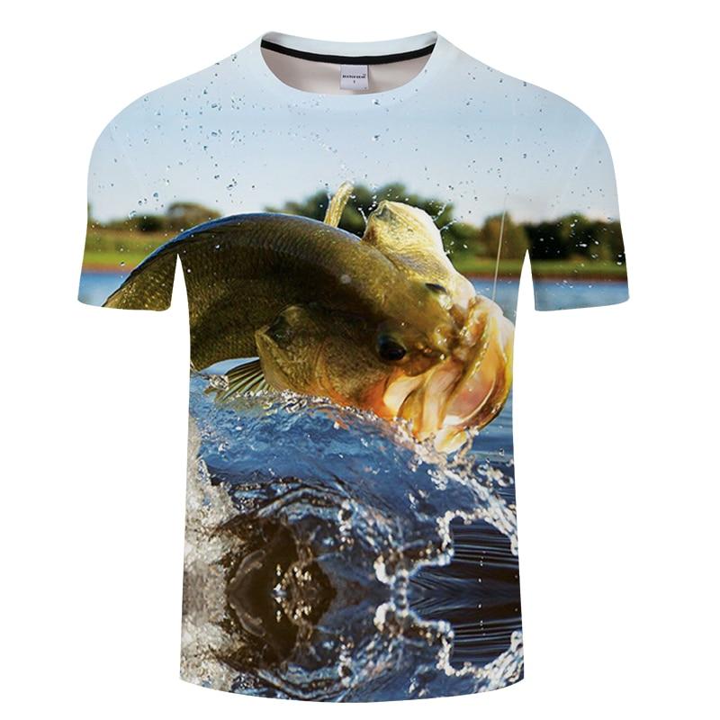 Fish 3d T Shirt Men Women Summer Fishinger Animal Clothing Hip Hop O-neck  Short Sleeve Tops Tees Funny Fish Printed T Shirt