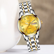 Ini Fashion Watch Women Kuarsa Jam Tangan Wanita Mewah Top Brand Tanggal Minggu Stainless Steel Wanita Clock Relogio Feminino(China)