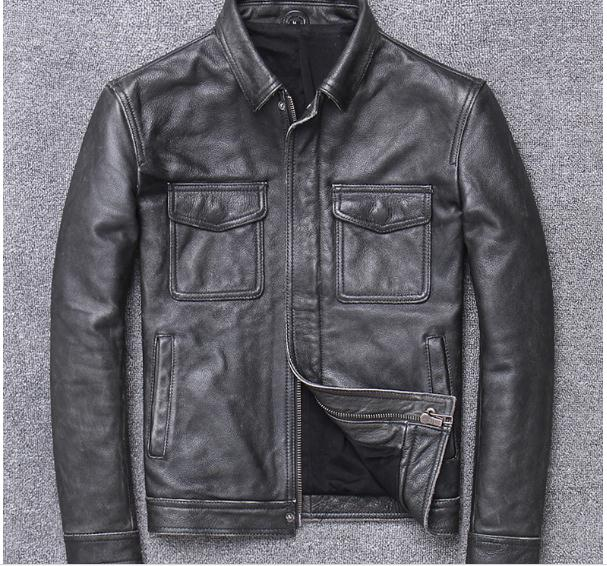 H6855f79846b041c1ab61eae487deb0dcU YR!Free shipping.sales.Clearance.$99.99 cowhide jacket.mens genuine leather coat.fashion vintage casual leather outwear.classic