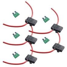12 Калибр ATC держатель предохранителя коробка в линии AWG провода медь 12 В 30A лезвие Стандартный разъем Упаковка из 5