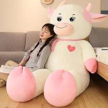 Jouets en peluche de vache de rêve, 60/80cm, poupée en peluche, pour bébé et enfant, oreiller, cadeau Kawaii pour fille, nouvelle collection