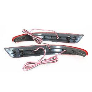 Image 4 - Réflecteur de pare choc arrière pour Nissan Almera, aménagement pour voiture LED, accessoire, pour Stop antibrouillard, lampe davertissement, 2013 2015, 1 paire