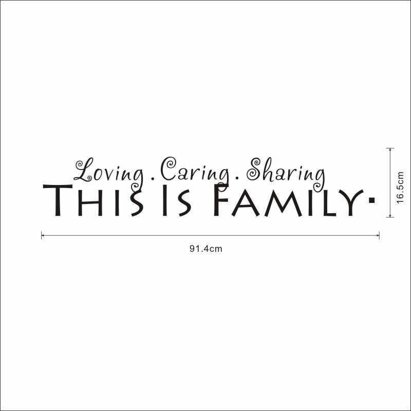 Family English Quotes Wall Stickers Funny Words Art Wall