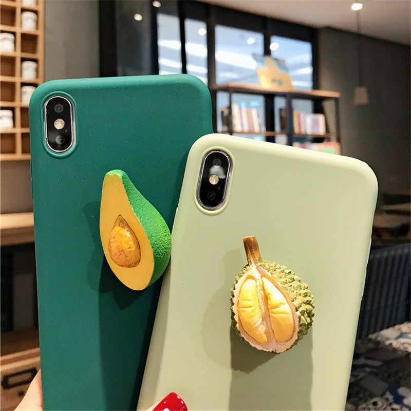 3D الفاكهة الخضروات سيليكون لينة حقيبة لهاتف سامسونج غالاكسي A50 A10S A20 A30 A40 A70 A80 M20 M30 A8A6 زائد A7 2018 A9 كوكه غطاء