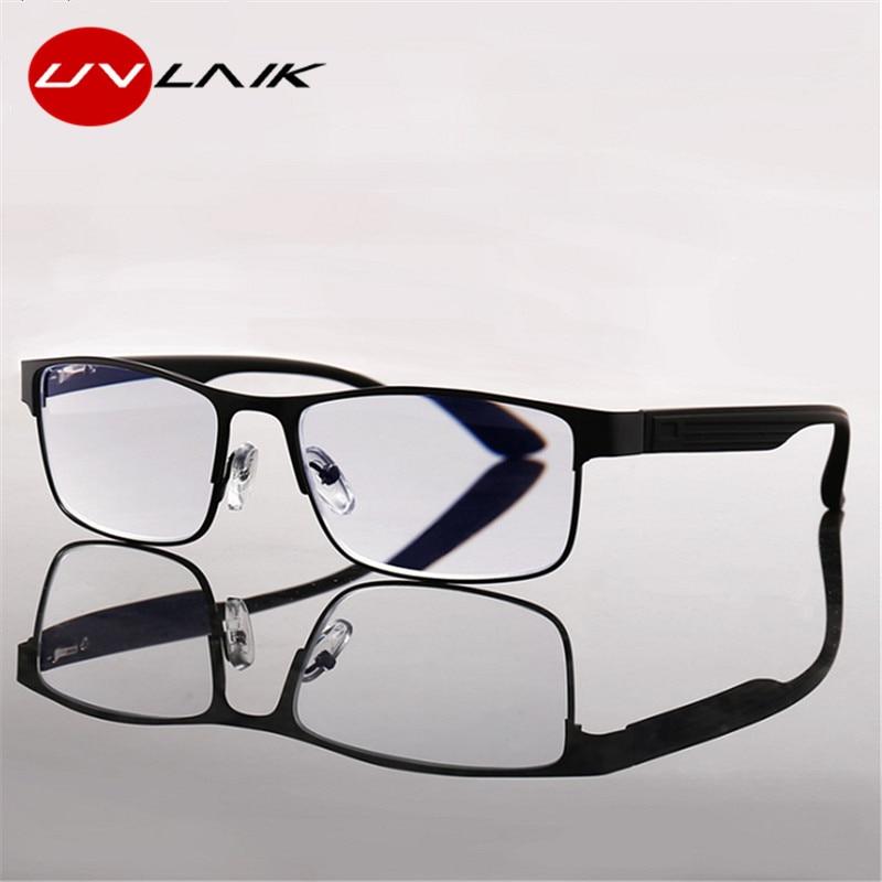 UVLAIK очки для чтения Для мужчин Бизнес сплава очки при дальнозоркости пресбиопии очки с диоптриями рамка 1,0 1,5 2,0 2,5 3,0 3,5 4,0