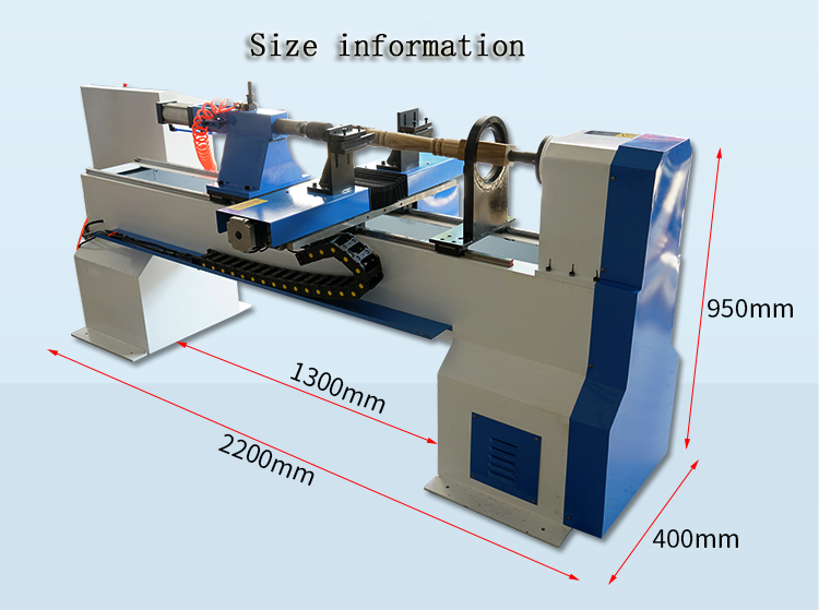 China Hot Sale T-1200 Vertical Wood Cnc Turning Lathe Machine