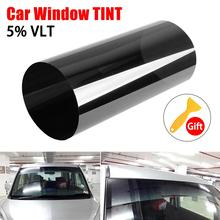 20cm*150cm Dark Black Car Window Tint Film Glass Roll Summer Car Auto House Windows Glass Tinting Solar Protection Sticker Films 20% vlt black pro car home glass window tint tinting film roll car window foils anti uv solar protection sticker films scraper