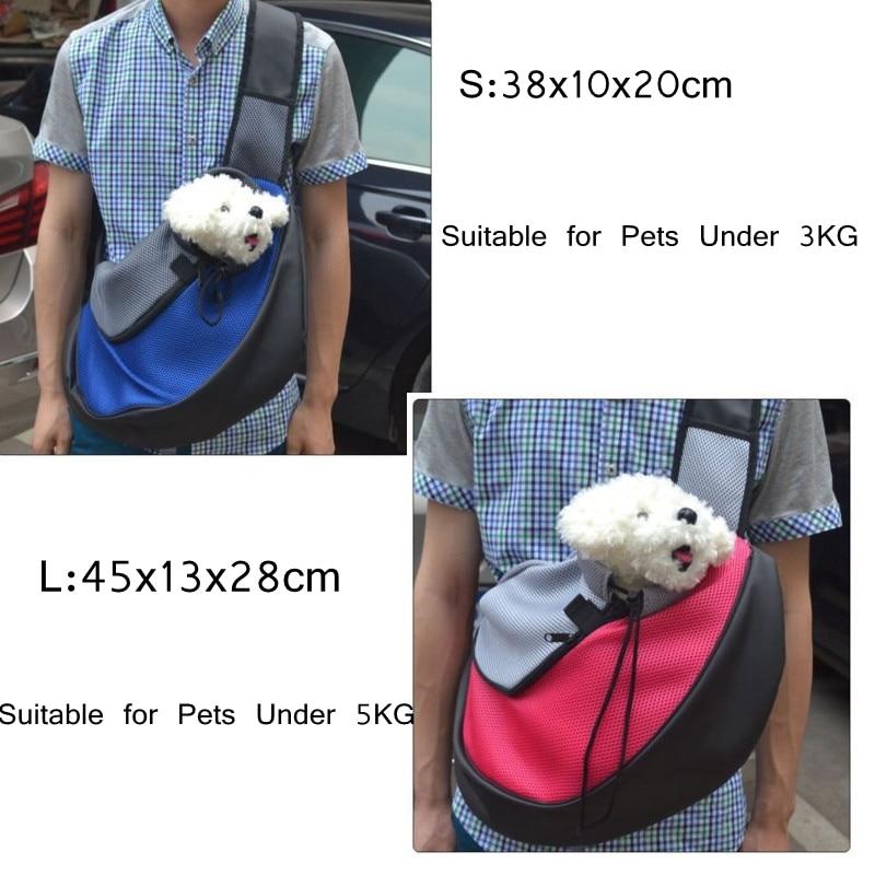 19 Pet Carrier Bag Puppy Dog Outdoor Travel Sling Shoulder Bag Comfortable Mesh Oxford Backpack Front Bags S/L 9