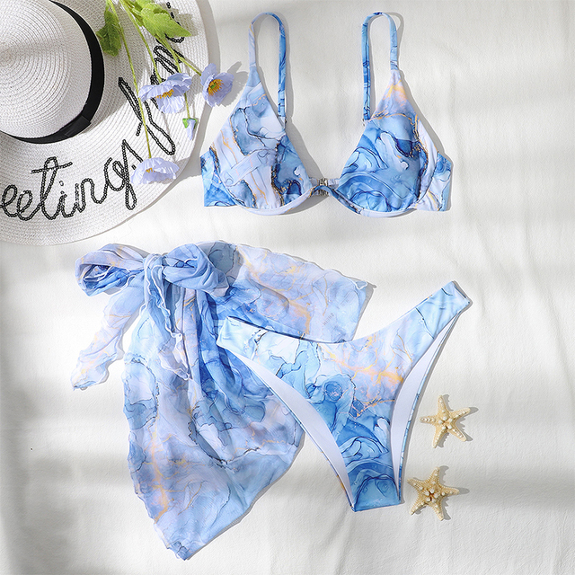 Underwired Swimsuit Push-Up with Skirt