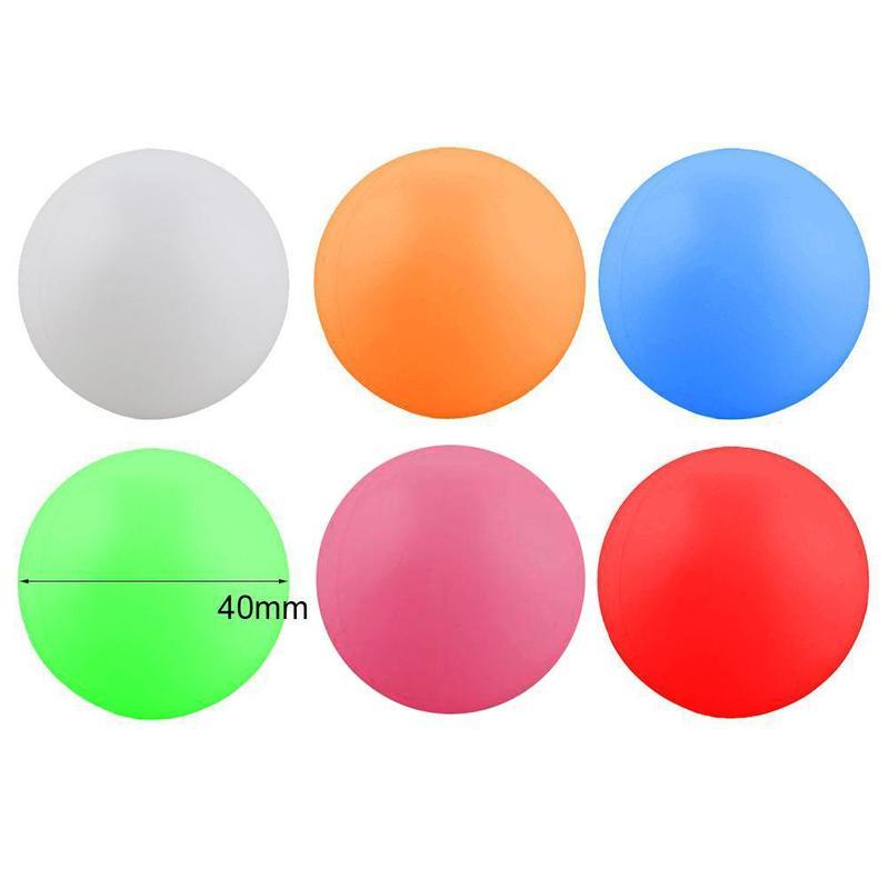 Forfar 10 Pcs 38mm White Beer Pong Balls Balls Ping Pong Practice Ball Drinking Pong Ping White Balls Washable N3Y6