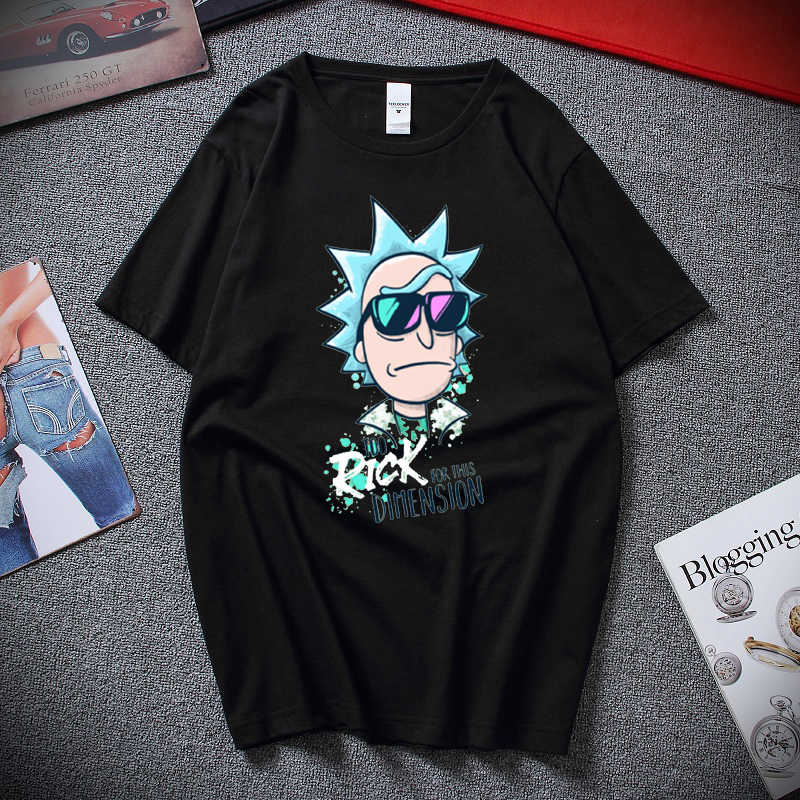 RAEEK erkek t-shirt çok Rick bu boyut Tees Tops Hip Hop Rick ve Morty T shirt bilim Geek karikatür tee gömlek