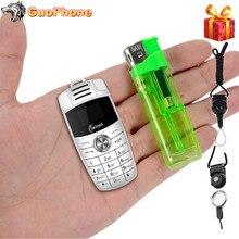 X6 Mini brelok telefon podwójny Sim magiczny głos Dialer Bluetooth Mp3 rejestrator dzieci Mini kluczyk mały telefon komórkowy