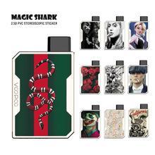 цена на Magic Shark Rose Crystal Print Flower Joker V-Vendetta Pod Vape Case Skin Back Film Sticker for Voopoo Drag Nano