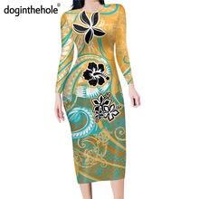 Женское облегающее платье doginthehole Гавайское этническое